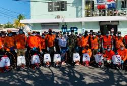 Defensa Civil Dominicana realiza operativo en provincia Duarte para combatir Coronavirus