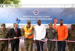Inauguran oficina regional de la Defensa Civil en la provincia Santo Domingo y entregan vehículo de rescate