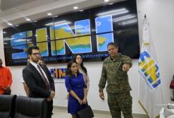 Defensa Civil recibe visita de Ejecutivos Embajada de Colombia en el país